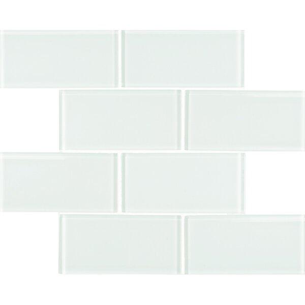 Premium Series 3 x 6 Glass Subway Tile in Alaskan White by WS Tiles