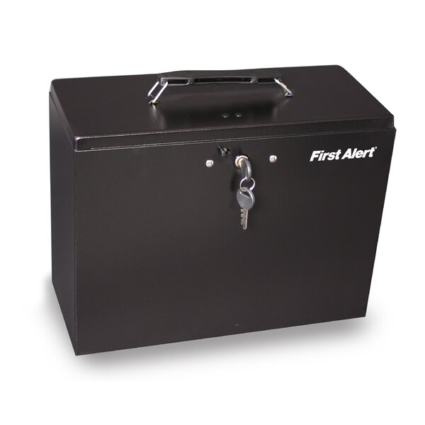 Steel Key Lock Commercial File Box by First Alert