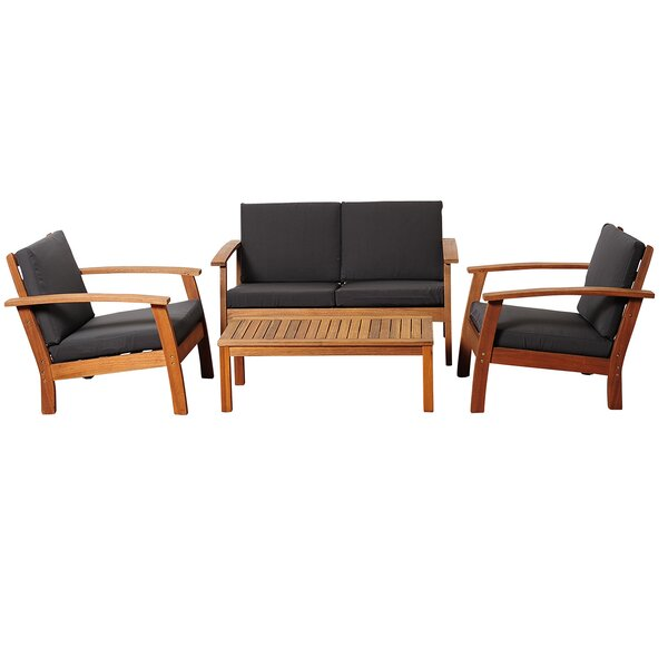 Murano 4 Piece Sofa Seating Group with Cushions by Breakwater Bay