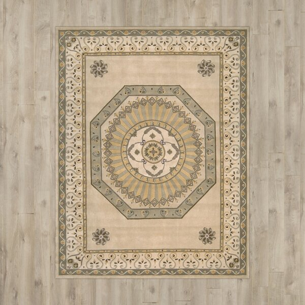 Natane Hand-Tufted Wool Ivory Area Rug by World Menagerie