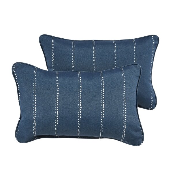 Balentine Dots Indoor/Outdoor Lumbar Pillow (Set of 2) by Wade Logan