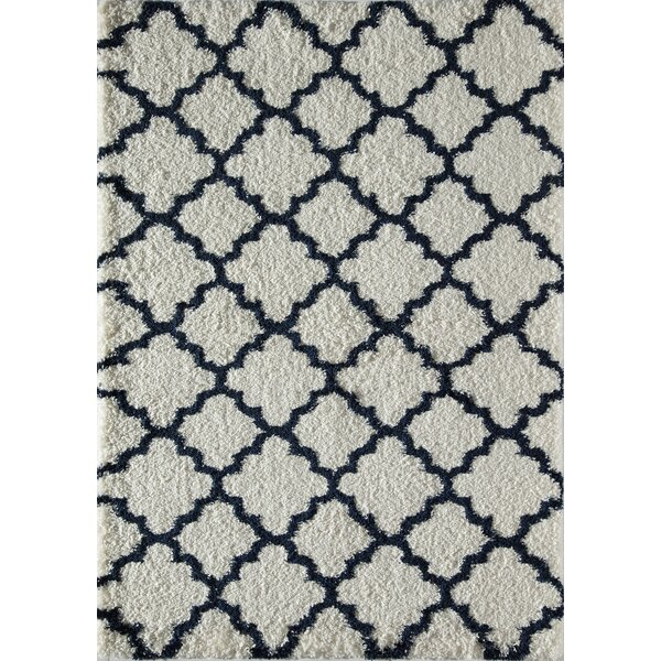 Dream Quatrefoil Ivory/Navy Area Rug by Rugs America