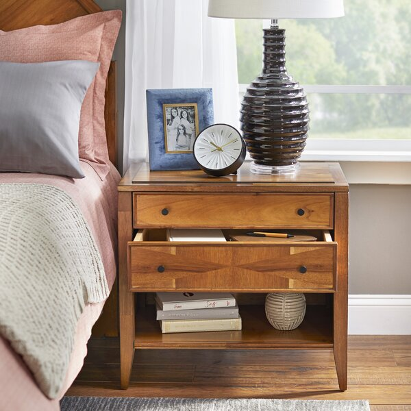 Seidman 2 Drawer Nightstand by Union Rustic