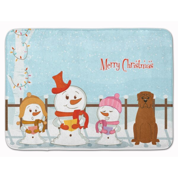 Christmas Carolers Dogue de Bourdeaux Memory Foam Bath Rug by The Holiday Aisle