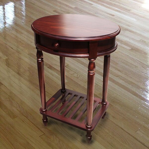 Fordingbridge Living Room Mahogany Wood 1 Drawer Oval End Table By Alcott Hill®