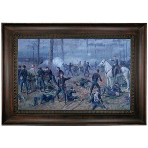 'The Hornets' Nest - American Civil War Scene 1899' by Thomas Corwin Lindsay Framed Print on Canvas by Historic Art Gallery