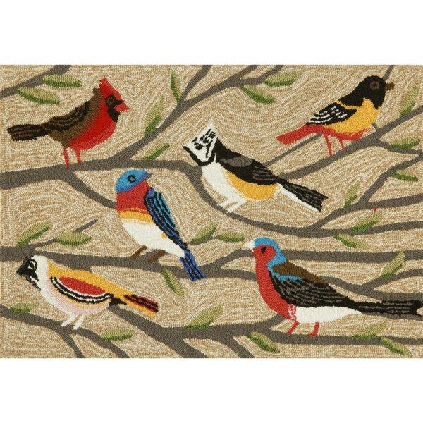 Ismay Birds Neutral Indoor/Outdoor Area Rug by August Grove