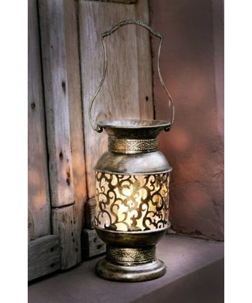 Metal and Glass Lantern by Pier Surplus