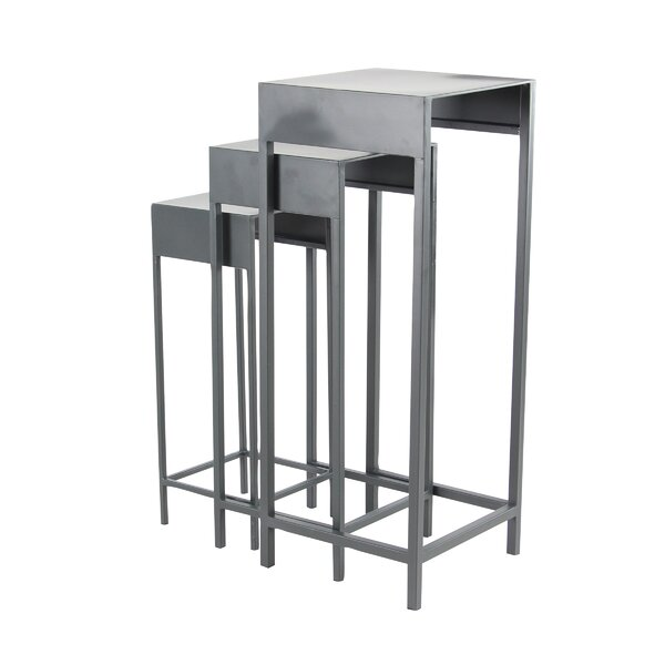 Reatha Contemporary Iron 3 Piece Nesting Plant Stand Set by Ivy Bronx