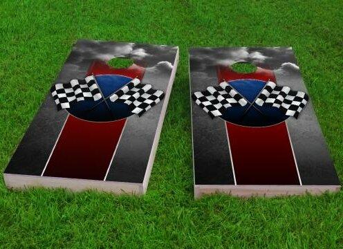 Checkered Flag 2 Cornhole Game (Set of 2) by Custom Cornhole Boards
