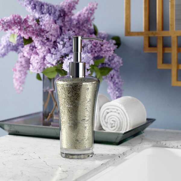Westley Mercury Fusion Glass Soap Dispenser by Willa Arlo Interiors