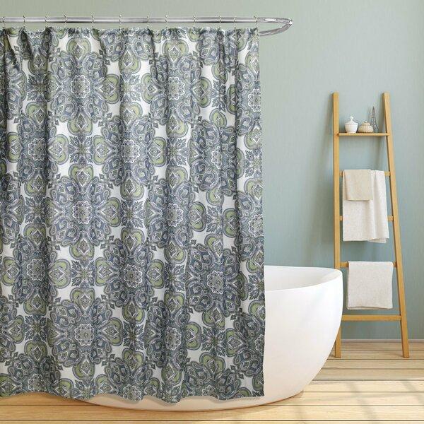 Farnsworth Geometric Paisley Floral Shower Curtain by Red Barrel Studio