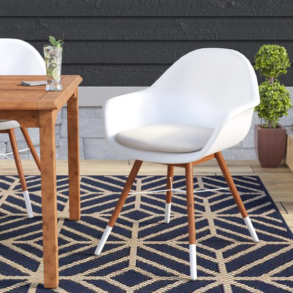 Colyer Patio Dining Chair with Cushion (Set of 4) by Mercury Row Mercury Row