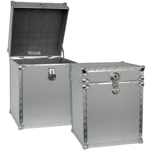 sc 1 st  Wayfair & Seward Trunk Embossed Steel Tall Cube Storage Trunk u0026 Reviews | Wayfair