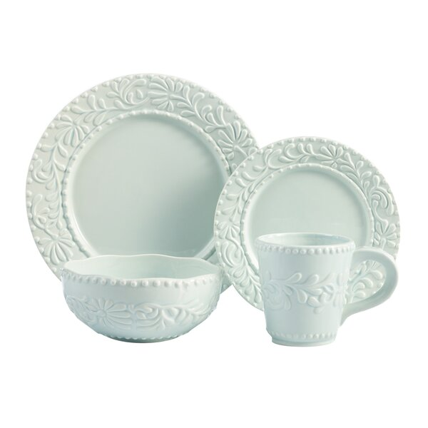 Isabelle 16 Piece Dinnerware Set, Service for 4 by Design Guild