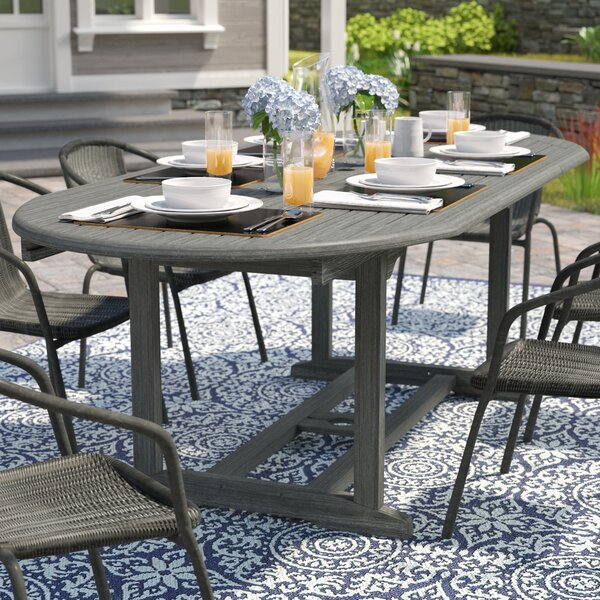 Densmore Outdoor Hand-Scraped Wood Dining Table by Darby Home Co