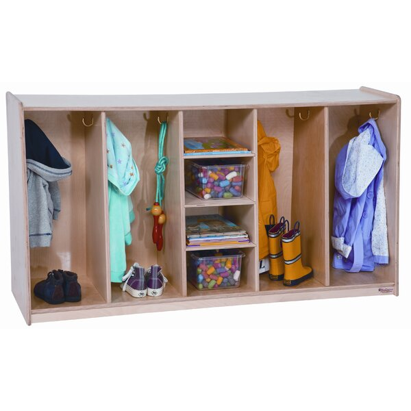 Tip-Me-Not 4 Section Coat Locker by Wood Designs