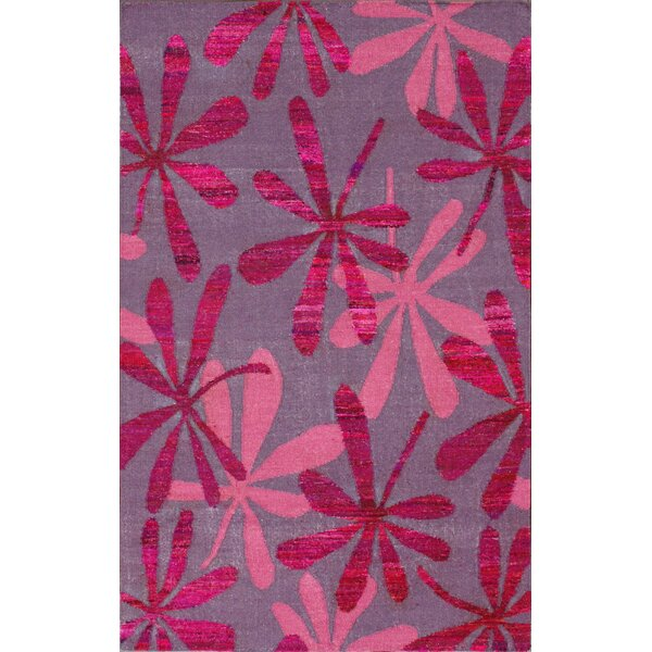 Meridean Kylie Hand-Knotted Pink Area Rug by nuLOOM