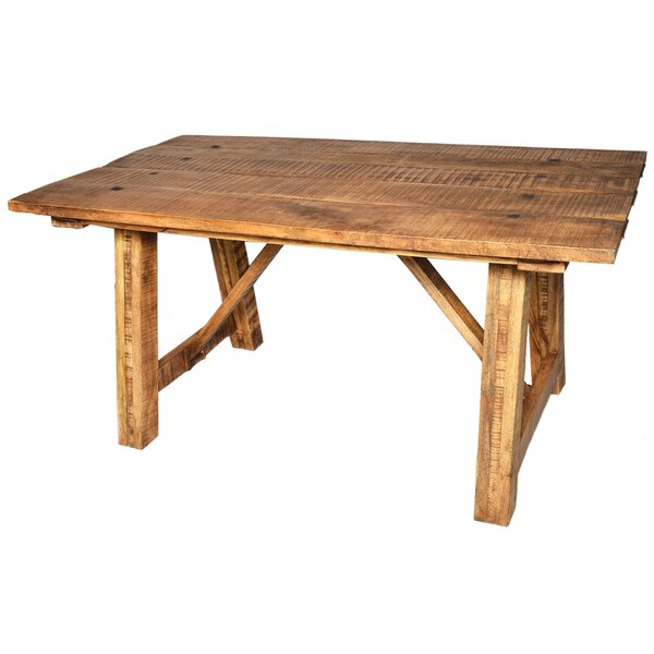 Theodore Solid Wood Dining Table by Millwood Pines