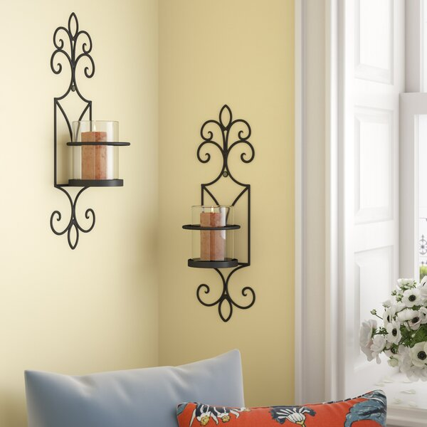 Iron Sconce (Set of 2) by Red Barrel Studio