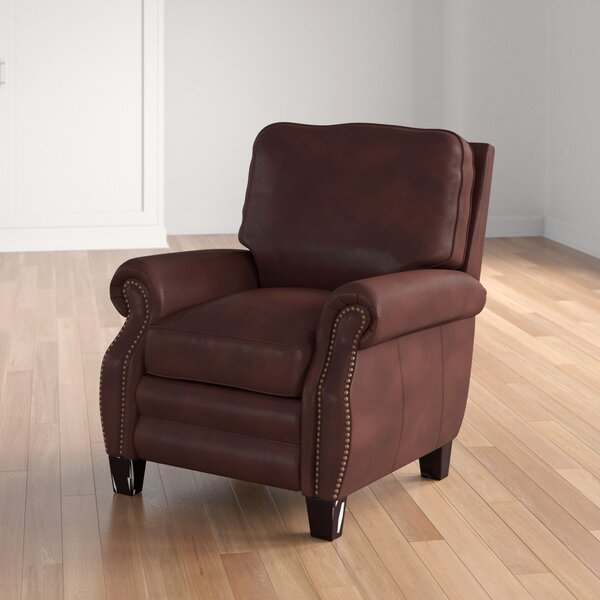 Terrill Leather Manual Recliner By Three Posts