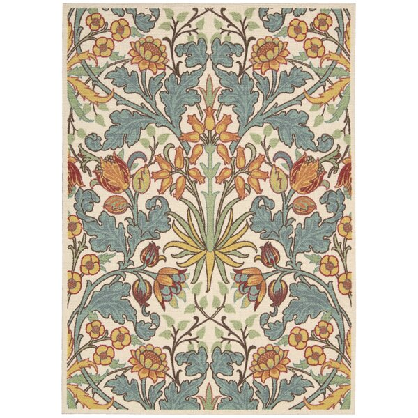 Burnside Ivory Area Rug by Charlton Home
