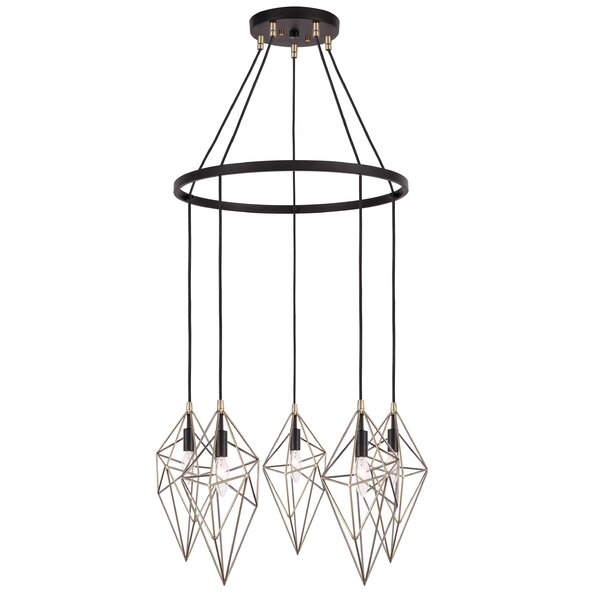 Luverne 5-Light Unique / Statement Wagon Wheel Chandelier By Wrought Studio