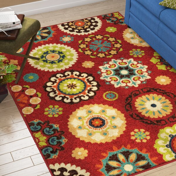 Conant Woven Red Indoor/ Outdoor Area Rug by Winston Porter
