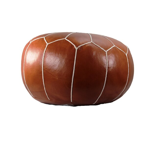 Siaosi Leather Pouf By Brayden Studio