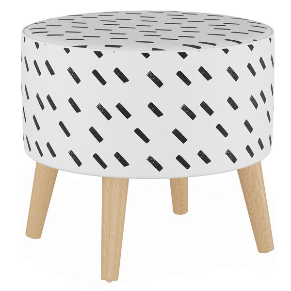 Burtrum Round Ottoman with Splayed Legs by Wrought Studio