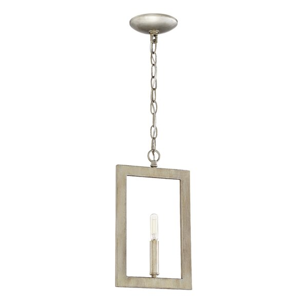Dendron 1-Light Square/Rectangle Pendant by Wade Logan