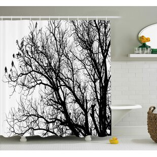 Borden Autumn Fall Tree Branch Shower Curtain