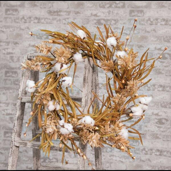 Grass 22 Cotton Wreath by Gracie Oaks