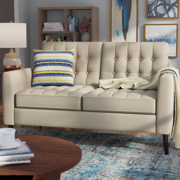 Darren Tufted Loveseat by Langley Street