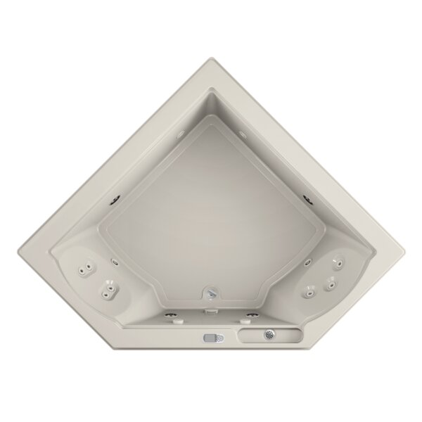 Fuzion Illuma LCD Whisper Left-Hand 66 x 66 Drop-In Whirlpool Bathtub by Jacuzzi®