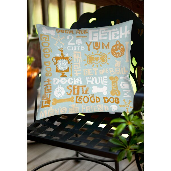 Dog Bark Indoor/Outdoor Throw Pillow by Manual Woodworkers & Weavers