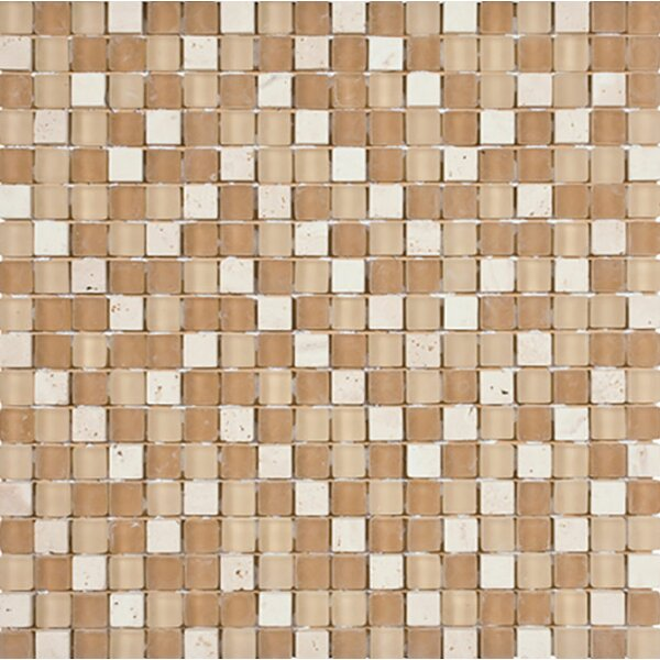 Palm Springs 0.625 x 0.625 Glass Mosaic Tile by Parvatile