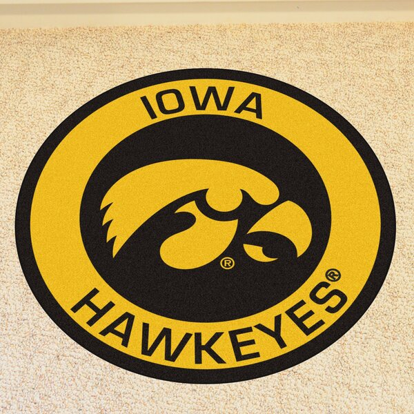 NCAA University of Iowa Roundel Mat by FANMATS
