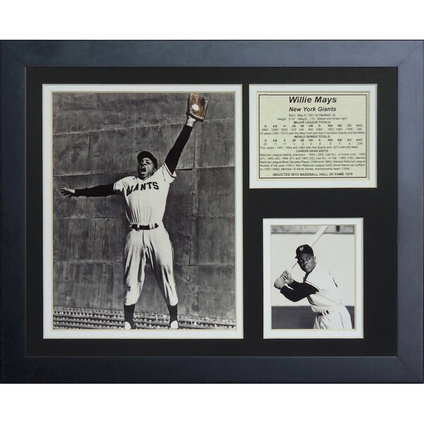 Willie Mays The Catch Framed Memorabilia by Legends Never Die