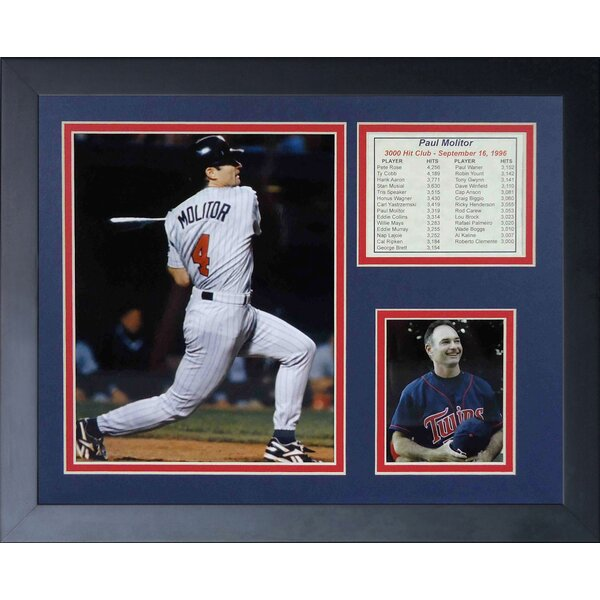 Paul Molitor - 3000th Hit Framed Memorabilia by Legends Never Die