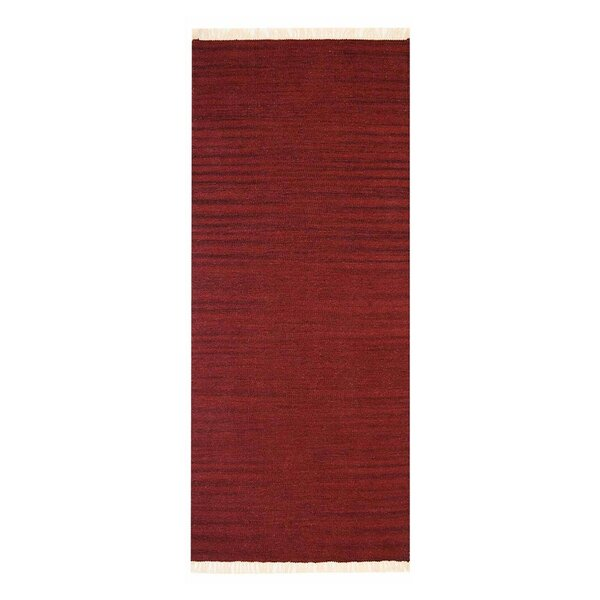 Costa Mesa Hand-Woven Burgundy Area Rug by Bloomsbury Market