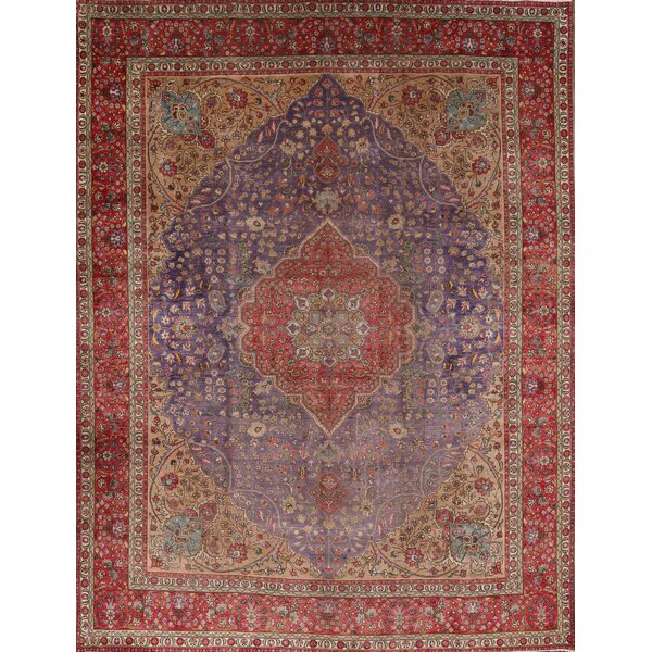 One-of-a-Kind Middletown Hand-Knotted Red/Burgundy 10'3 x 13'8 Wool Area Rug