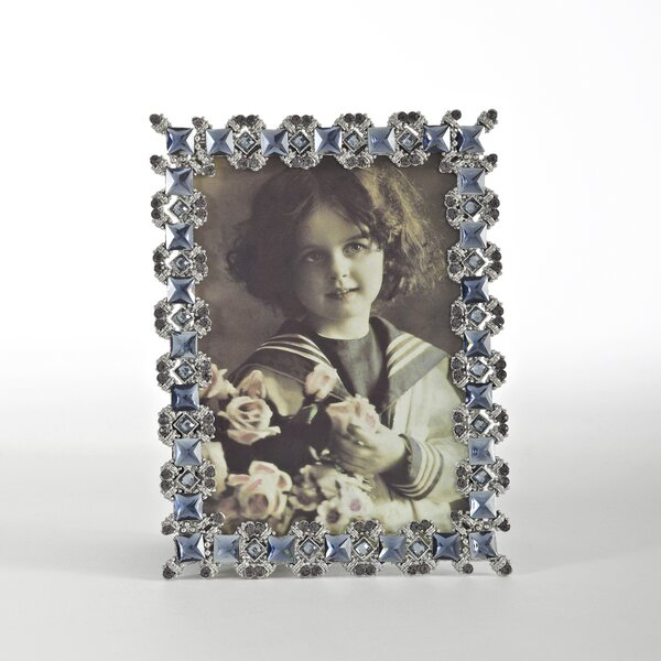 Sapphire Jeweled Picture Frame by Saro