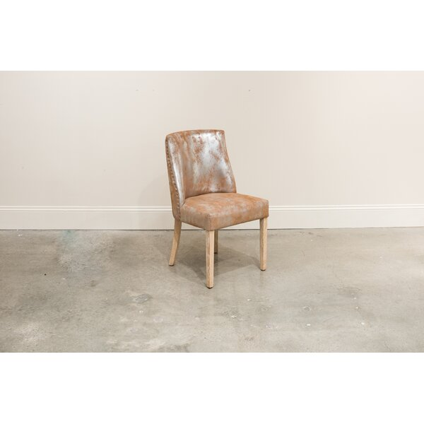 Spotts Genuine Leather Upholstered Dining Chair (Set of 2) by Gracie Oaks Gracie Oaks