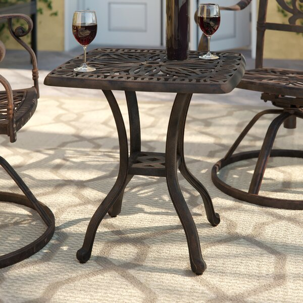 Lebanon Metal Side Table by Three Posts