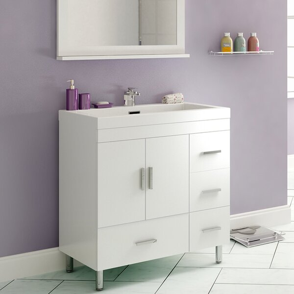 Garett Modern 29 Single Bathroom Vanity Set by Wade Logan