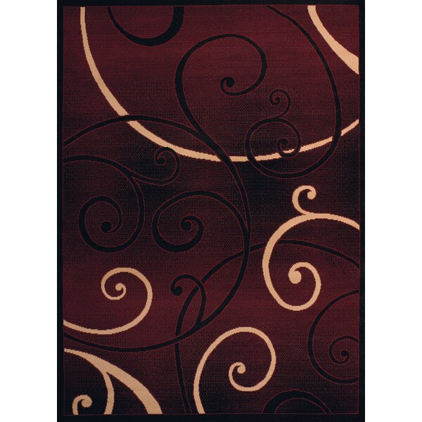 Dallas Bangles Burgundy/Beige Area Rug by United Weavers of America