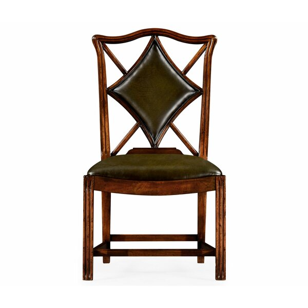 Windsor Genuine Leather Upholstered Dining Chair (Set of 2) by Jonathan Charles Fine Furniture