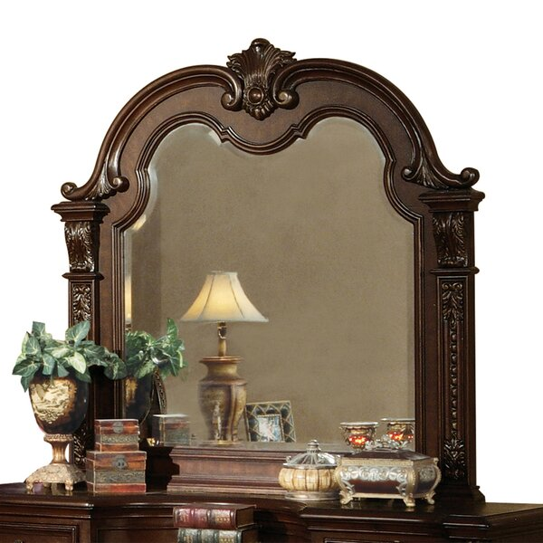 Murphy Traditional Wooden Frame Accent Mirror by Astoria Grand