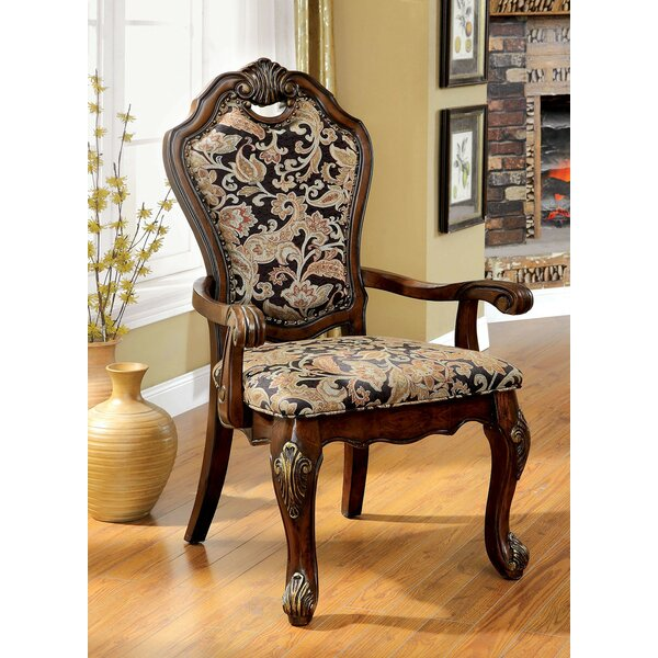 Dufault Upholstered Dining Arm Chair (Set of 2) by Astoria Grand